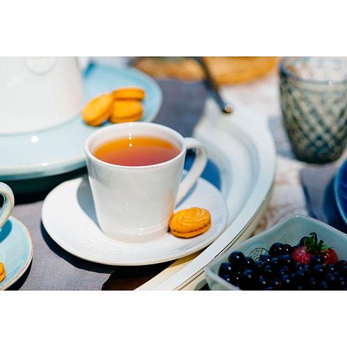 Чашка для кофе с блюдцем Costa Nova Nova белого цвета, фото