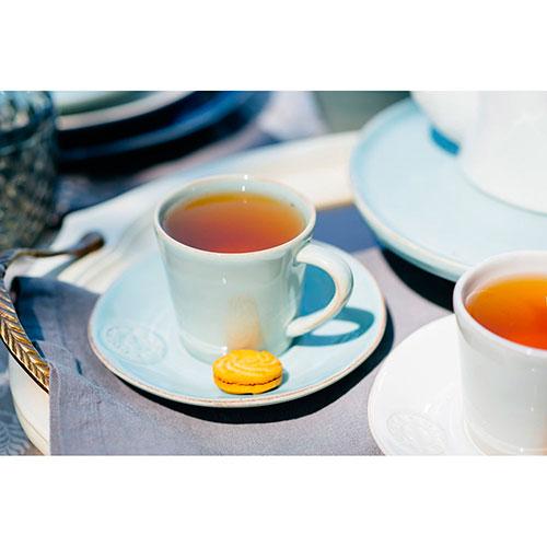Набор кофейных чашек с блюдцами Costa Nova Nova бирюзового цвета на 6 персон, фото