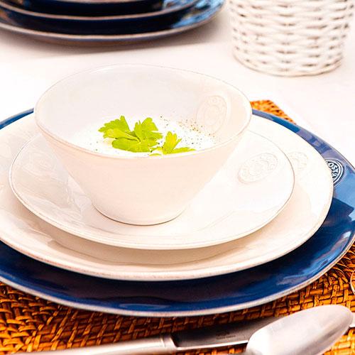 Керамическая десертная тарелка Costa Nova Nova белого цвета, фото