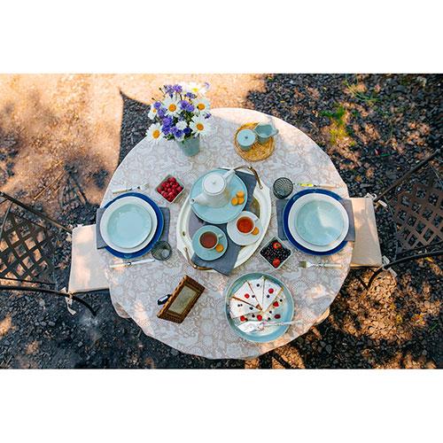 Белая обеденная тарелка Costa Nova 27см, фото