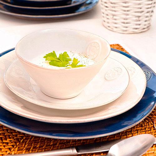 Круглое блюдо Costa Nova Nova из глянцевой керамики синего цвета, фото