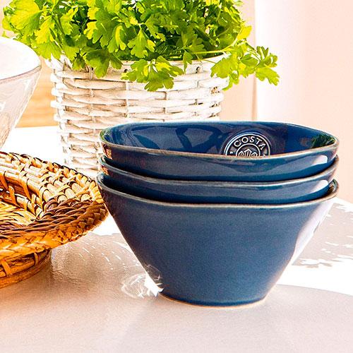 Пиала Costa Nova из синей керамики, фото
