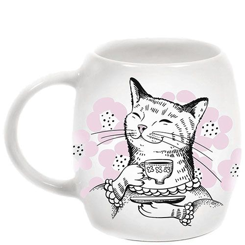 Чашка Orner Store Кошка с чаем, фото
