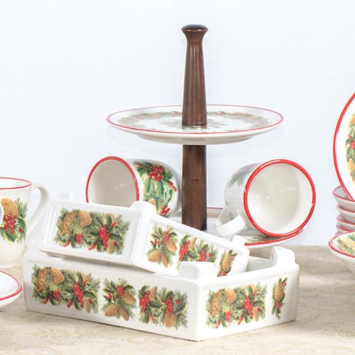 Двуярусная фруктовница Villa Grazia Зимний букет, фото