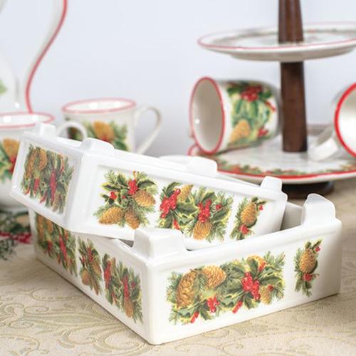 Ящик для фруктов Villa Grazia Зимний букет 27х18см, фото