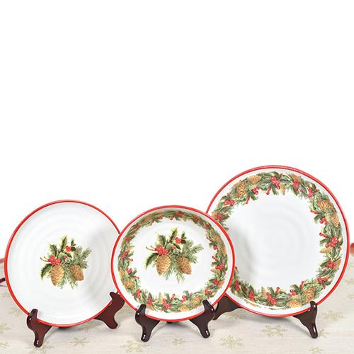 Тарелка для салата Villa Grazia Зимний букет 23см, фото