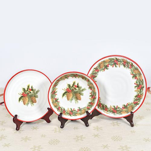 Набор тарелок для супа Villa Grazia Зимний букет на 6 персон, фото