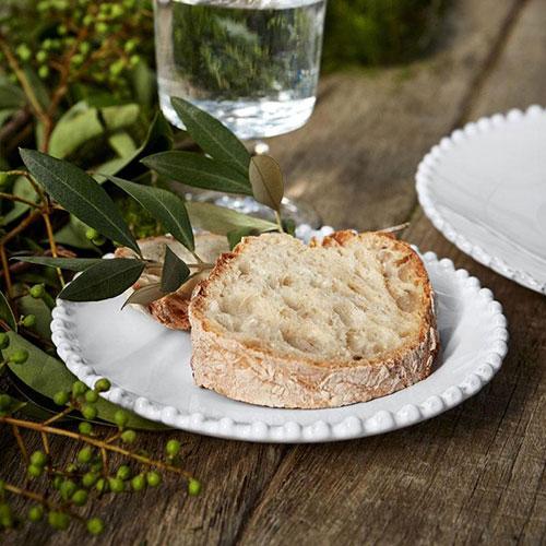 Блюдце белое Costa Nova Pearl 17см, фото