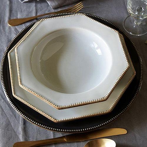 Темно-серая тарелка Costa Nova Luzia 34см, фото