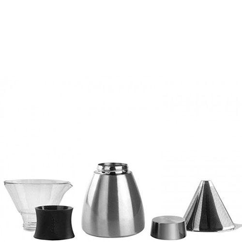 Кофеварка Asobu Pour Over серебристая, фото