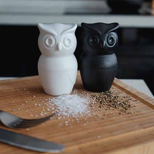 Емкость для соли и перца Qualy Morning Owl в виде совы, фото