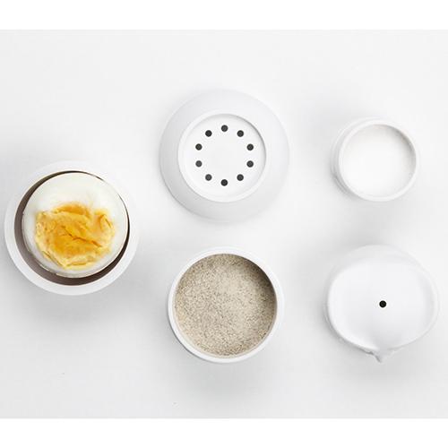 Емкость для соли и перца Qualy Morning Owl в виде белой совы, фото