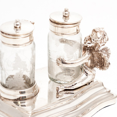 Набор для соли и перца Royal Family Шеффилд с резным узором, фото