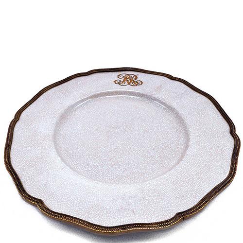 Подставная тарелка Royal Family с бронзовой каймой, фото