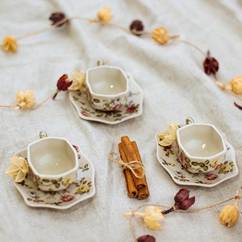 Чашка с блюдцем Royal Family Sweet England Прованс, фото