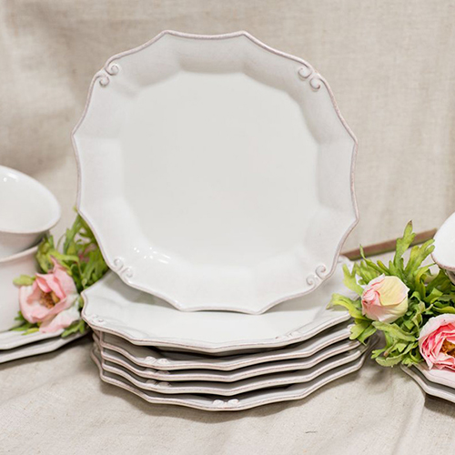 Тарелка для салата Costa Nova Barroco белого цвета 21см, фото