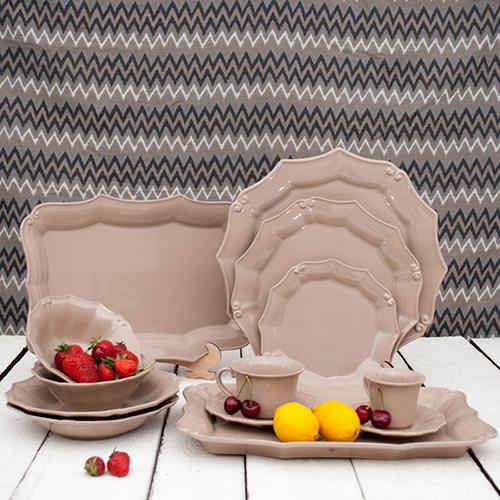 Тарелка для салата Costa Nova Barroco коричневого цвета 21см, фото