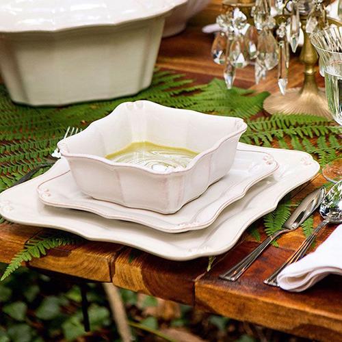 Тарелка обеденная Costa Nova Barroco белого цвета 27х27см, фото