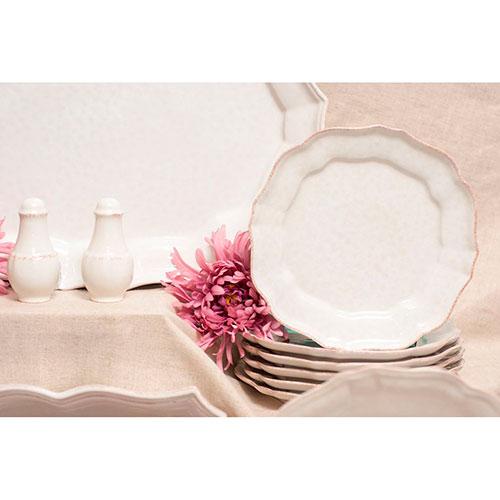 Набор мелких тарелок Costa Nova Impressions белого цвета на 6 персон, фото