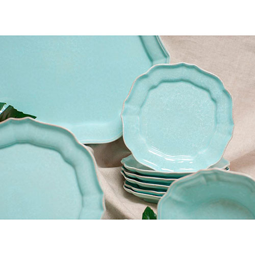 Набор обеденных тарелок Costa Nova Impressions на 6 персон бирюзового цвета, фото