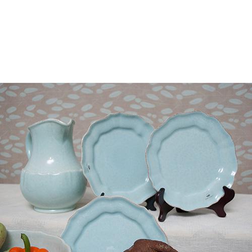 Набор из 6 обеденных тарелок Costa Nova Impressions 23см голубого цвета, фото