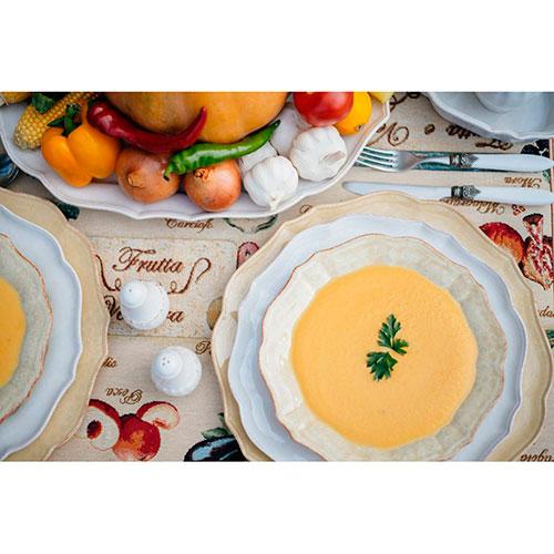 Белая тарелка Costa Nova Impressions из керамики, фото