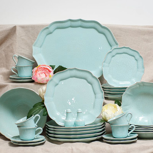 Набор из 6 тарелок Costa Nova Impressions голубого цвета 30см, фото