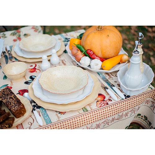 Набор из 6 суповых тарелок Costa Nova Impressions желтого цвета 300мл, фото