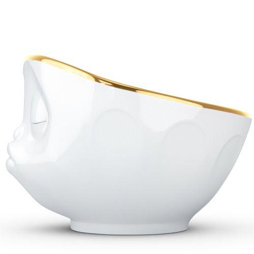 Пиала Tassen Kissing белая с золотым ободком, фото