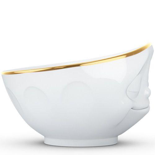 Пиала Tassen Happy белая с золотым ободком, фото