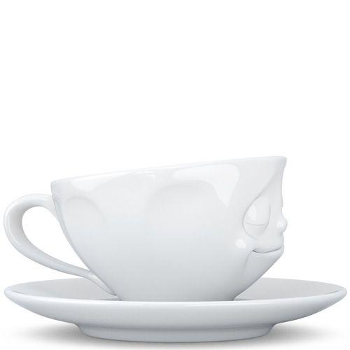 Чашка с блюдцем Tassen Happy белого цвета для эспрессо и макиато, фото