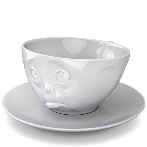 Чашка с блюдцем Tassen Oh Please белого цвета для эспрессо и макиато, фото
