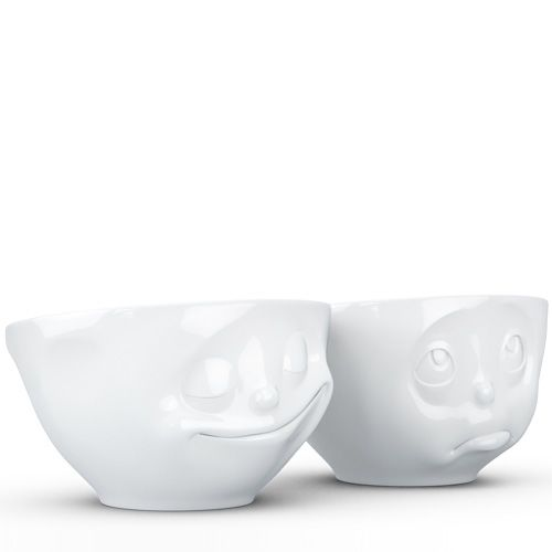 Набор Tassen Happy Oh Please! из двух белых глянцевых пиал по 200 мл, фото