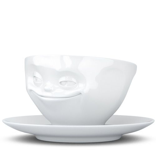 Чашка с блюдцем Tassen Grinning белого цвета 200 мл, фото