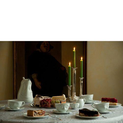 Чашка с блюдцем Tassen Oh Please! белого цвета, фото