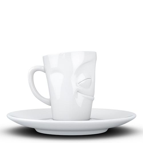 Чашка с блюдцем Tassen Cheery белого цвета, фото