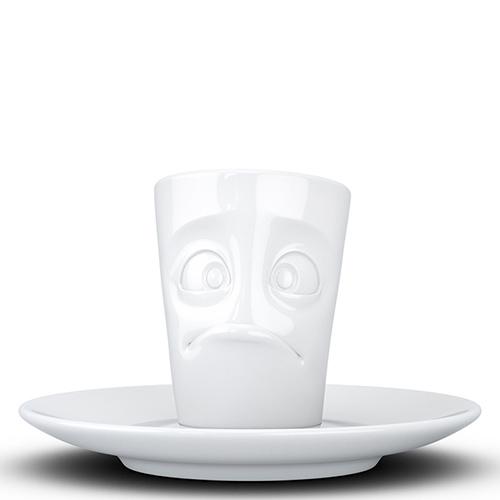 Белая чашка Tassen Baffled с блюдцем, фото