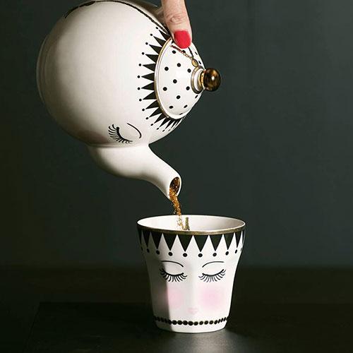 Чайник заварочный Miss Etoile Closed eyes 16см, фото