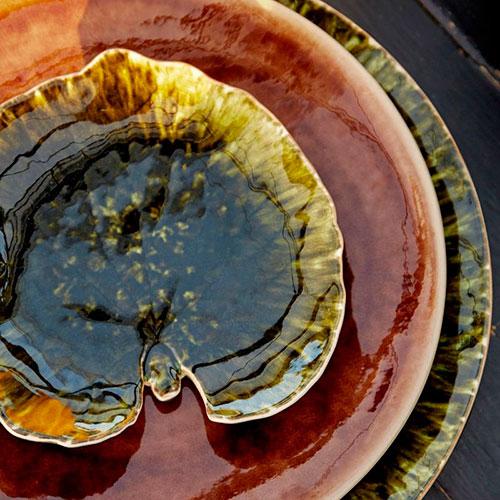 Десертная тарелка Costa Nova Riviera Лист манжетки, фото