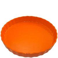 Круглая керамическая форма для пирога Appolia оранжевого цвета , фото