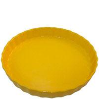 Круглая керамическая форма для пирога Appolia желтого цвета , фото
