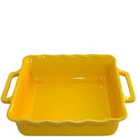 Квадратная керамическая форма Appolia желтого цвета с ручками, фото