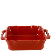 Квадратная керамическая форма Appolia 37х31см красного цвета с ручками, фото