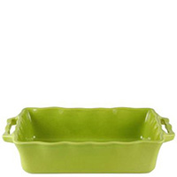 Керамическая форма для пирога Appolia 42х26см зеленого цвета с ручками, фото