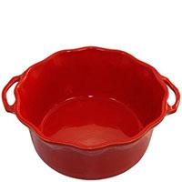 Форма для суфле Appolia 25х22х9,4см красного цвета с ручками и высокими бортами, фото