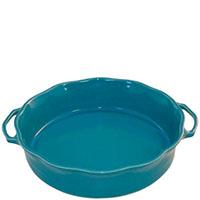 Керамическая форма для суфле Appolia 34х29,6см голубого цвета с ручками, фото