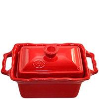 Керамическая форма Appolia 700мл красного цвета с крышкой, фото
