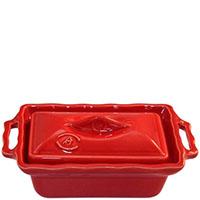 Прямоугольная форма Appoli 20,5х11,7см красного цвета с крышкой, фото