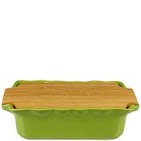 Форма для выпечки Appolia 33,5х20,4см с крышкой-дощечкой из бамбука, фото