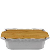 Форма для выпечки Appolia 33,5х20,4см серого цвета с крышкой-дощечкой из бамбука, фото